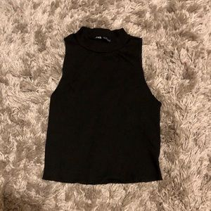 3/$16⭐️ ZARA Black Crop Too - NEVER WORN, Size M